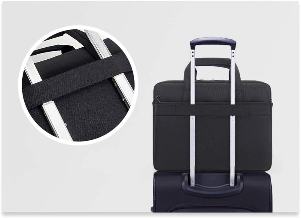 QSJY File Cabinets Laptop Shoulder Canvas Messenger 14 Inches Notebook 39/×28/×7CM Color : Black, Size : 39/×28/×7CM