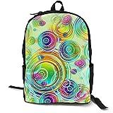 Papel Pintado Patrón Colorido Color Mochila Libro Portátil Bolsa Multifuncional Ocio Colegio Estudiante Viajes Negocios Hombres Mujeres