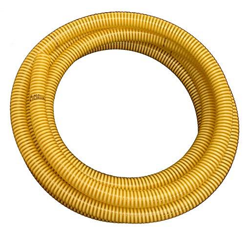 S&M 450242 Tubo de aspiración atoxico Reforzado de Uso alimentario, Ø50 mm x 7,10 Metros, Amarillo-Transparente