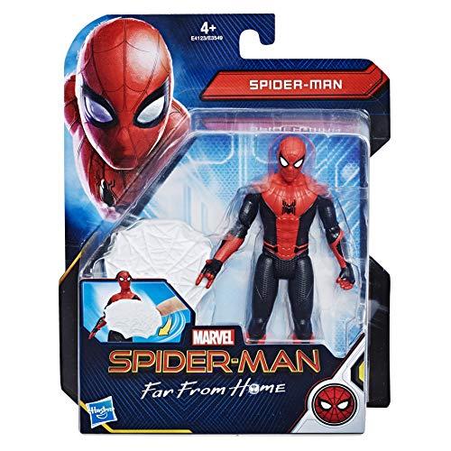 Hasbro Spider-Man- Far from Home Web Shield Spider-Man Action Figure da 15 cm, Multicolore, E4123ES0