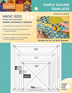 fast2cut® Simple Square Templates: Quickly Cut 3 1/2