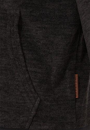 Naketano Male Zipped Jacket der Gedudelte Pimped Dirty Livid Grey Melange, L