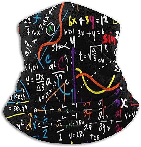 Niet bruikbare microvezel nekwarmer wiskunde lineair educatie nek gaiter tube oorwarmer hoofdband sjaal gezichtsmasker bivakmuts voor mannen en vrouwen