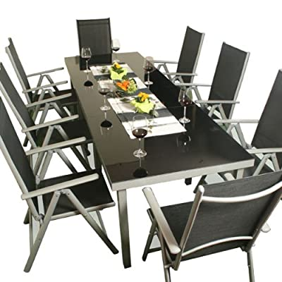 xxl alu sitzgarnitur gartenm bel garnitur sitzgruppe 11 teilig gartenmobel azle. Black Bedroom Furniture Sets. Home Design Ideas