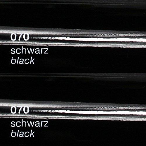 8,25€/m² Oracal 751c - 070 Schwarz - Glanz Klebefolie - 5m x 63cm - Folie - Moebelfolie - Plotterfolie - Selbstklebend - gegossen - cast