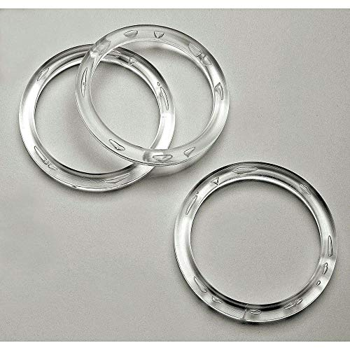 NAHANCO CIR3100 Plastic Scarf Rings, Clear Acrylic (Pack of 100)