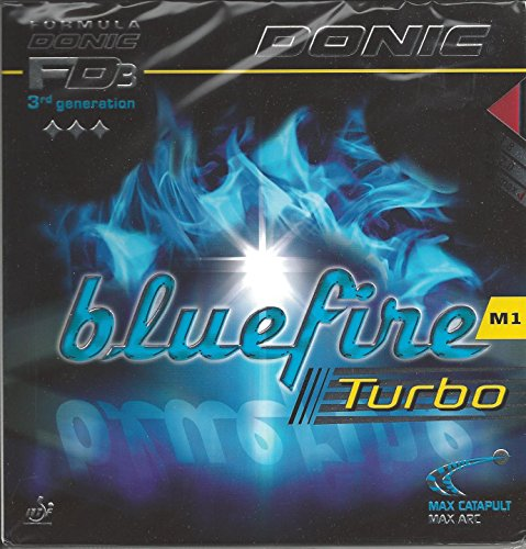 Cheapest Prices! DONIC Bluefire M1 Turbo Table Tennis Rubber (Black, Max)