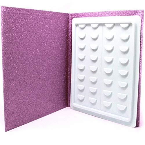 Libro de almacenamiento de pestañas, 16 pares de maquillaje