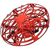 Qinmo Drone à Main for Adultes Enfants - Mini-Drone for Les Enfants Volant Boule Drone avec la lumière LED vol d'intérieur Boule de détection Obstacle Drone for Les Enfants Cadeau ( Color : Red )