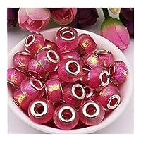 RSWJ 10個/ネックレス用ビーズが適する作るために使用される大型の点滅穴とDIYスペーサービーズの各バッチ、 (Color : Color 7)