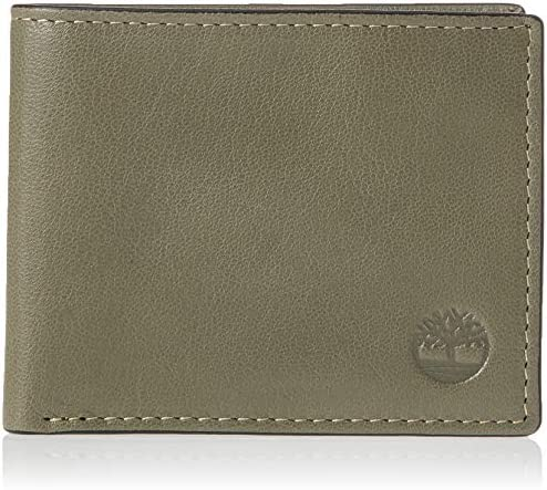 Men's Leather Wallet with Attached Flip Pocket