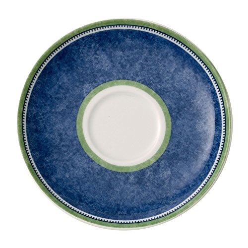 Villeroy & Boch Switch 3 Sous-tasse, 14 cm, Porcelaine, Blanc/Bleu/Vert