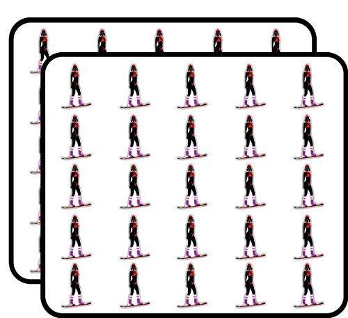 Vrouw Snowboard Vinyl Stickers Grappig Schattig voor Kinderen DIY Crafts, Scrapbooking, Laptop, Bumper Auto Stickers, Stickers voor Kinderen, 50 Pack