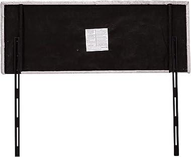 Velvet Queen Headboard Square Button Tufted Headboard, Light Gray