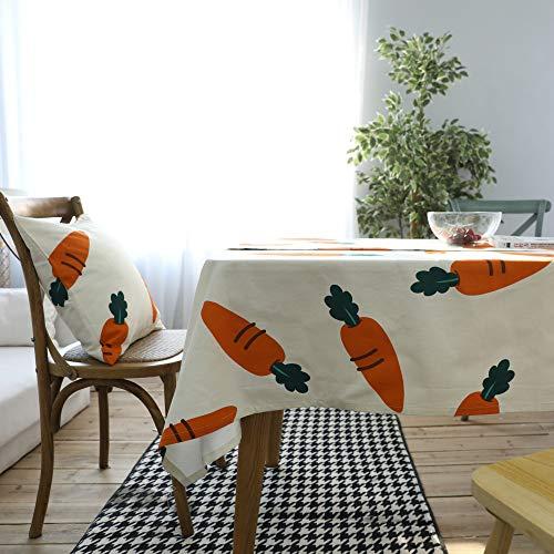 WEIFENG Zanahoria Vegetal Mantel Creativo Paño de jardín Mesa de té Mantel Cubierta de Toalla Cubierta Rectangular Engrosada Zanahoria 140 * 180