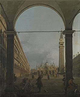 'Canaletto - Venice - Piazza San Marco,about 1758' Oil Painting, 24x29 Inch / 61x74 Cm ,printed On High Quality Polyster Canvas ,this Beautiful Art Decorative Prints On Canvas Is Perfectly Suitalbe For Home Theater Gallery Art And Home Gallery Art And Gifts