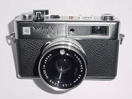 Yashica MG-1 fixed lens 35mm Rangefinder w/Yashinon 45mm 1:2.8 Lens (Japan) (Black COlor 35mm Film...