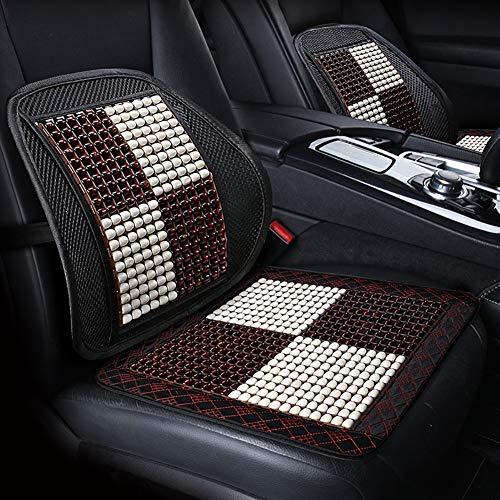 RUIX Perlen Autositzbezug Massage aus Allen Natur holzperlen -Universal Fit für Autositz oder Bürostühle Schwarz -1 Stck