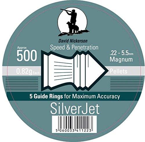iHunter David Nickerson Silver Jet .22/5.5mm Air Gun Pellets (500ct)...