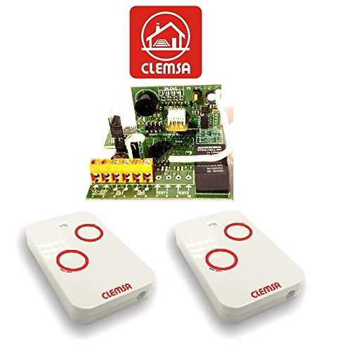 Receptor universal puerta garaje Clemsa RNE248U Mutancode con 2 mandos alta seguridad Clemsa Mutancode