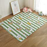 AIJU Teppich aus 101% Baumwolle, Retro-Terrassenteppich, großer Teppich, waschbar grau gewebt, kann im Wohn- und Schlafzimmer verwendet werden110*110