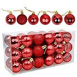 Bolas de Navidad 4cm, Speyang Bolas de Árbol de Navidad Ado
