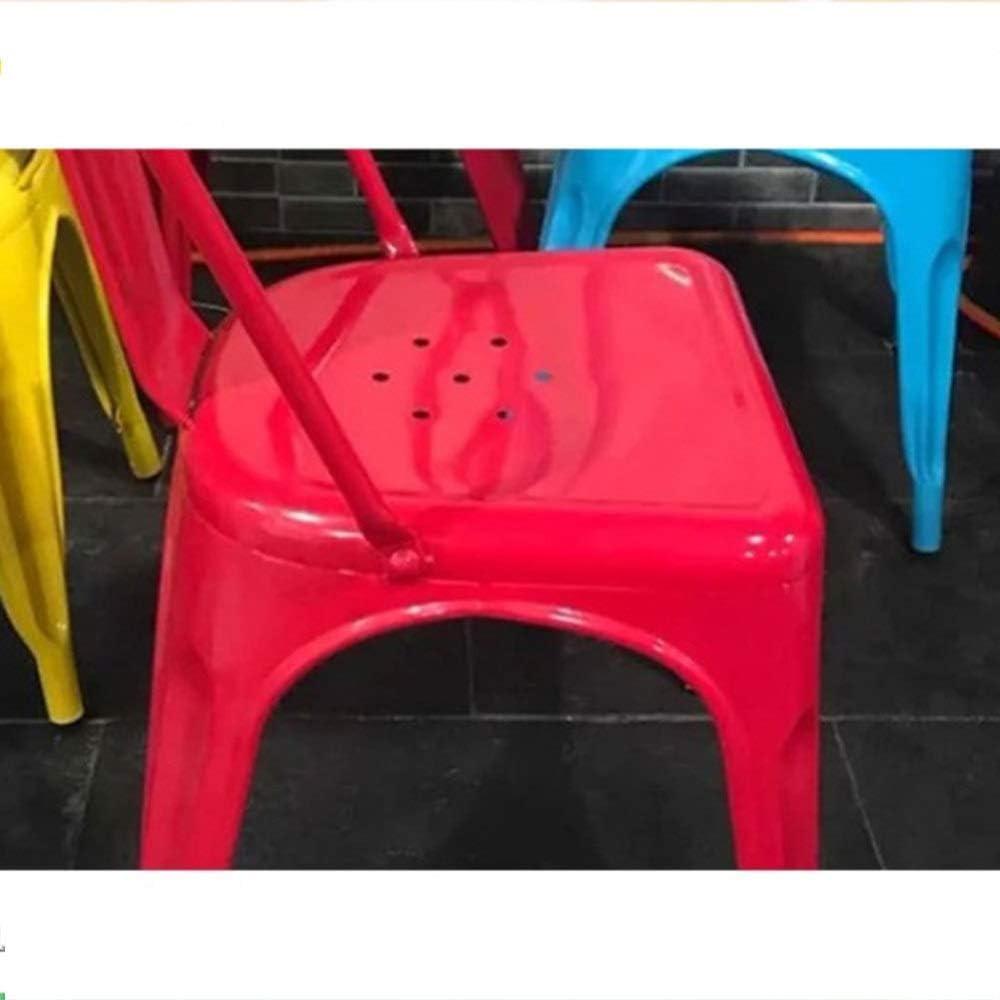 JIALIZL Tabouret De Bar,Chaises en Métal,Set Vintage pour Salle à Manger, Terrasse, Cuisine, Meubles De Jardin | Intérieur, Extérieur, Empilable,Orange Blue