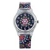 Lancardo Reloj para niños de gelatina de silicona impermeable 30 m de cuarzo japonés con...