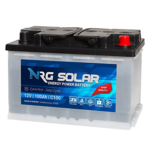 NRG SOLAR 12V 100Ah Solarbatterie Boot Versorgungsbatterie Verbraucher Batterie (100AH 12V)