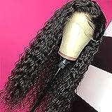 Hermosa peluca larga ondulada Pelucas de encaje sintético Pelucas frontales largas Color negro Peluca suelta de onda rizada suelta Pelucas para mujer Natural WAVY WIG PRE PLUCKED Línea con pelucas res