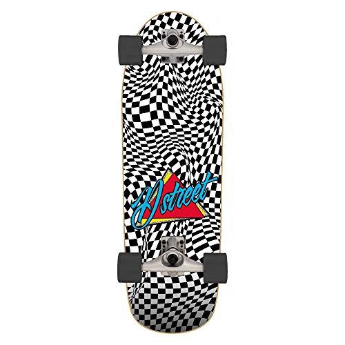 D-Street Surfskate Check Warp - Monopatín unisex para adulto, multicolor (multicolor), 81,2 x 25,4 cm