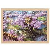 M-YN Jigsaw Puzzle Puzzle de Rompecabezas de 1000 Piezas para niños para Adultos - Rompecabezas para Adultos 1000 Piezas - Jigsaw Puzzle Toy, Arte de Arte con Marco (Color : Cherry Blossom Villa)