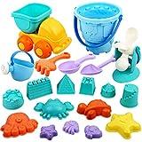 Vanplay Juguetes de Playa para Niños 20 Piezas Material de Plástico Blando con Bolsa de Malla Juegos de Playa