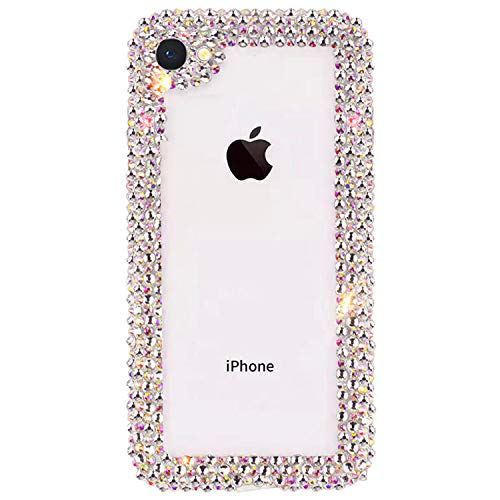 GIZEE Phone Case Compatible with iPhone 6 Plus & iPhone 6S Plus, Luxury 3D Glitter Sparkle Bling Shiny Handmade Crystal Rhinestone Diamond Bumper Girly Clear Protective Cover