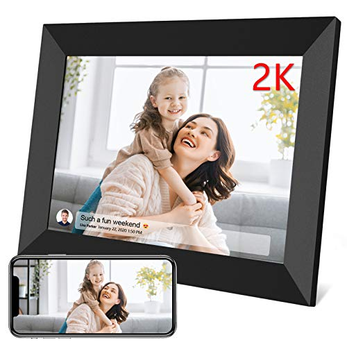 FRAMEO 10.1 Inch Smart WiFi Digital Photo Frame 1280×800 IPS LCD Touch Screen, Auto-Rotate Portrait and Landscape, Built in 16GB Memory, Share Moments Instantly via Frameo App from Anywhere