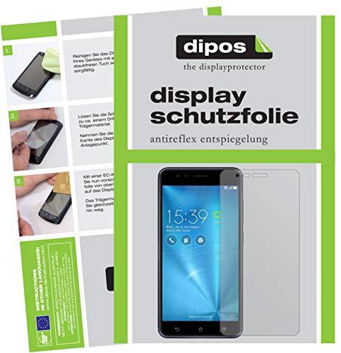 dipos I 2X Schutzfolie matt kompatibel mit Asus Zenfone 3 Zoom Folie Bildschirmschutzfolie