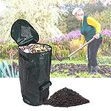 有機ゴミキッチンガーデンヤード堆肥バッグ環境PE布プランターキッチン廃棄物廃棄物オーガニック堆肥バッグ,35*60cm