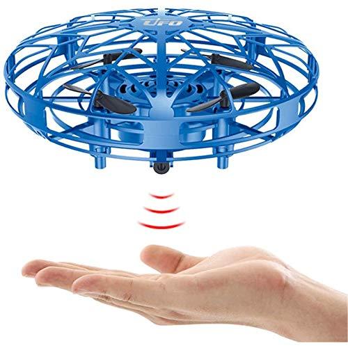 UFO Minidron volador con sensor de infrarrojos, con luces LED, funciona a mano, juguete volador para niños y niñas, pelota voladora para interior y exterior, regalo