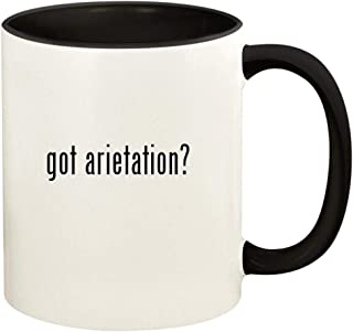 got arietation? - 11oz Ceramic Colored Handle and Inside Coffee Mug Cup, Black