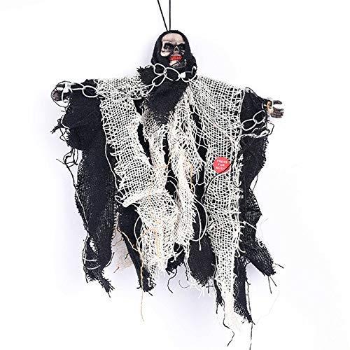 SYue Accesorios de Halloween Decoración de Barra Persona Completa Colgante de Terror Fantasma Control de Voz eléctrico Cadena de Hierro Pequeña decoración de Fantasma Colgante