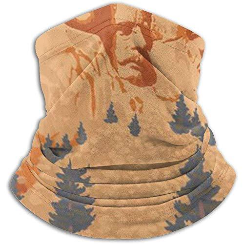 Randy-Shop Parc National du MT Rushmore, Dakota du Sud - Cache-Cou, Tube Cache-tête, Serre-tête et Masque Facial