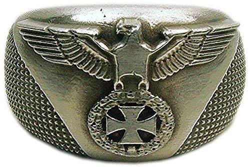 MK-art Militaria Ring mit Heeresadler Wehrmacht Bike,, Rockerring
