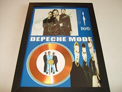 gold disc frames Disco de Oro Firmado en Modo Depeche
