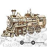 ROKR Modelo del Arte de la Locomotora del Rompecabezas de Madera del Corte 3D del Laser de con los...