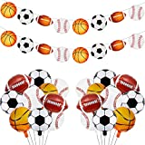 10 Pieces Sports Themed Party Decorations...