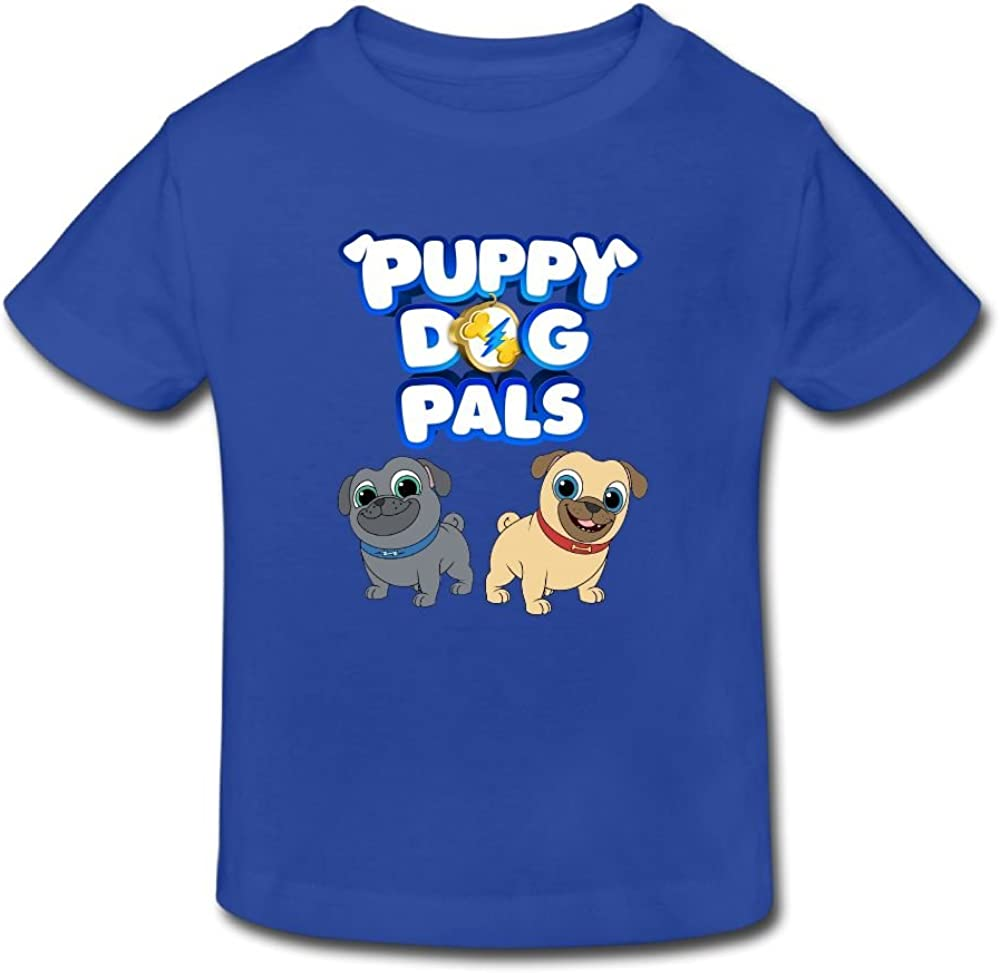 Ssuac Yi66 Puppy Dog Lovely Pals Unisex Kids Hipster Short Sleeve Tank Top Cotton T-Shirt White