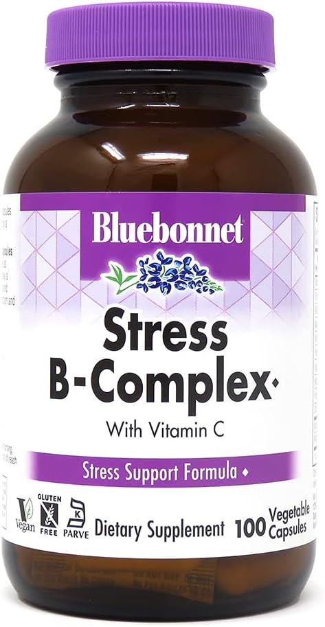 outlet Bluebonnet Nutrition Stress Relief Capsules Vegetable B San Francisco Mall Complex