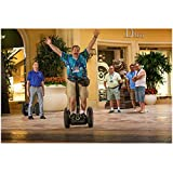 Paul Blart: Mall Cop 2 8x10 Photo Kevin James in Blue Tropical Shirt on Segway Arms in Air kn