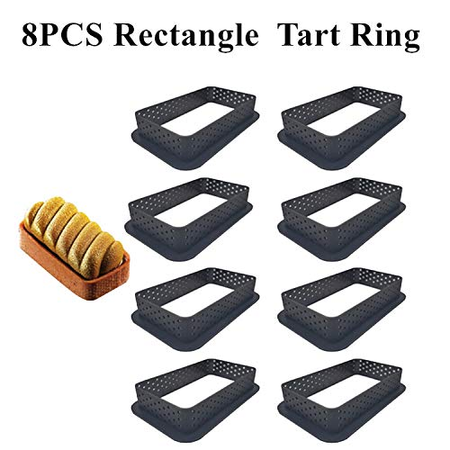 Lowest Prices! Silicone Tart Mold Pastry Dessert Mould Pan Silicone Cake Mold For Baking Mousse Tartlet Decoration-9PCS Rectangle Ring-
