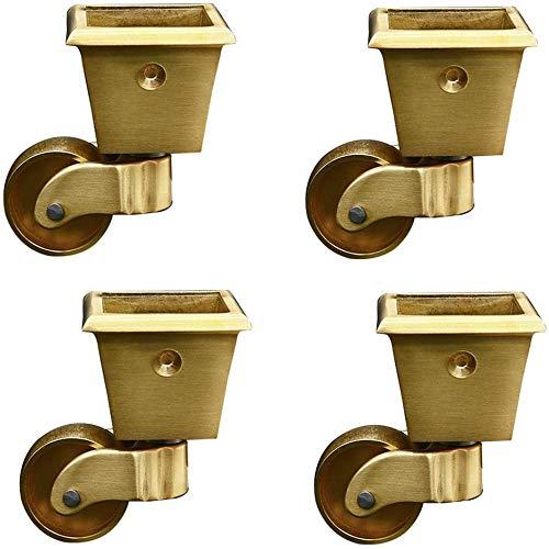 HAIYANG Square Brass Caster Universele Wiel Cup Vaste Vervangende Wiel Hardware, Geschikt voor Piano, Bank, Tafel En Stoel